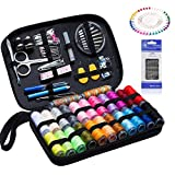 Sewing Kit -Over 146 DIY Premium Sewing Supplies,24 Practical Color Thread Reels,Over 40 Quality Sewing Needles,YOOSUN Zipper Portable Mini Sewing kit for Beginners, Emergency, Travel and Home