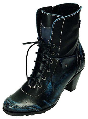 Blau Bottes MICCOS pour Femme Schwarz qAqIfwvx