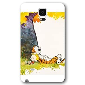 UniqueBox Customized Black Frosted Samsung Galaxy Note 4 Case, Calvin and Hobbes Samsung Note 4 case