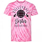 Best Customized Girl Little Sister Tshirts - Customized Girl Custom Volleyball Sister: Youth Tie-Dye Cyclone Review