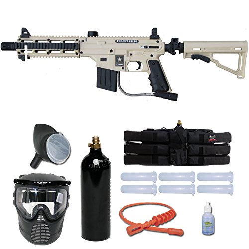 Tippmann US Army Project Salvo Paintball Gun Player Package - Tan Paintball Marker Players Kit