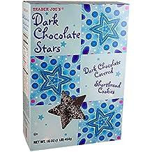 Trader Joes Dark Chocolate Stars Cookies...16. Oz Box of Yummy