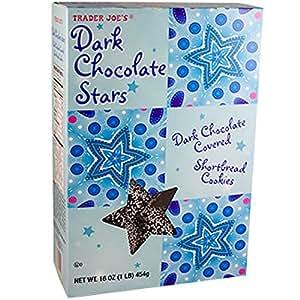 Amazon Com Trader Joes Dark Chocolate Stars Cookies 16