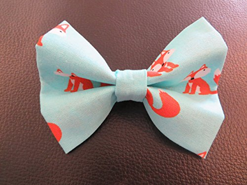 Homemade Fox Costume (Dog Bow Tie in Light Blue with Orange)