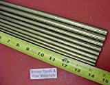 1/4'', 5/16'', 3/8'' & 1/2'' C360 BRASS ROUND 8 Pc ASSORTMENT SOLID ROD 14'' long #3.72