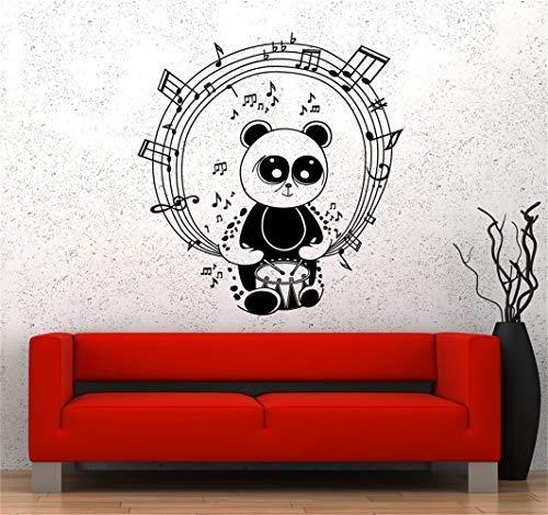 - Alfr1882Meg Vinyl Saying Lettering Wall Art Inspirational Sign Wall Quote Decor Music Rhythm Panda Bear Drums Melody Kids