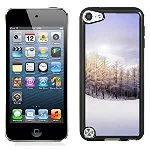 New Beautiful Custom Designed Cover Case For iPod 5 With Winter Snowy Pure Landscape Phone Case