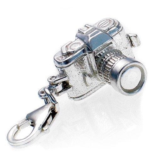 Welded Bliss Sterling 925 Silver SLR Opening Camera Charm Lobster Clip On Fit WBC1043