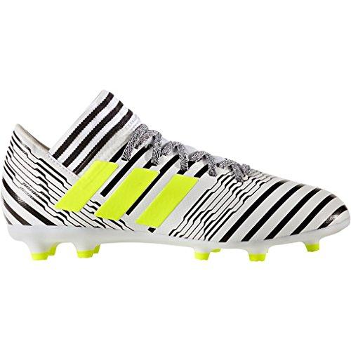 8ff06b0e6f01 adidas Boys' Nemeziz 17.3 FG J Soccer Shoe, White/Solar Yellow/Black, 4.5  Medium US Little Kid - Buy Online in Oman. | Apparel Products in Oman - See  Prices ...