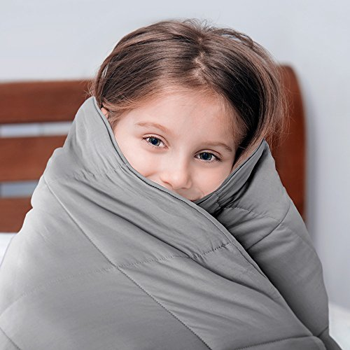 Bare Home Cotton 10lb Weighted Personal Sensory Blanket – Throw & Travel, (40