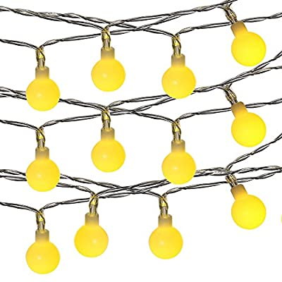 LUCKLED Fairy Globe String Lights, 100 LED Christmas Lights with UL Certified Adapter for Indoor and Outdoor, Home, Lawn Garden, Patio, Wedding, Party, Holiday Decorations (Warm White)