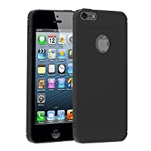 iVoler iPhone SE Case, Business Fit Thin Resilient Anti Skind Shockproof Protection Defense Shield Shock Absorption and Carbon Fiber Design Cover for iPhone 5/5S-Black Cases