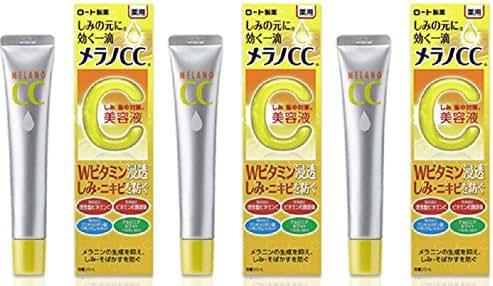 3 Pack Rohto Mentholatum MELANO CC Anti Spot Essence Acne Freckles Treatment 20ml Japan