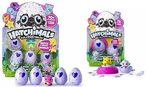 Hatchimals Colleggtibles Season 1 4-pack + bonus and 2-pack + nest Bundle,