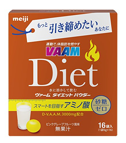 Japan Health and Beauty - Meiji VAAM diet powder pink grapefruit flavor 6g ¡Á 16 bags *AF27* by VAAM (VAAM)