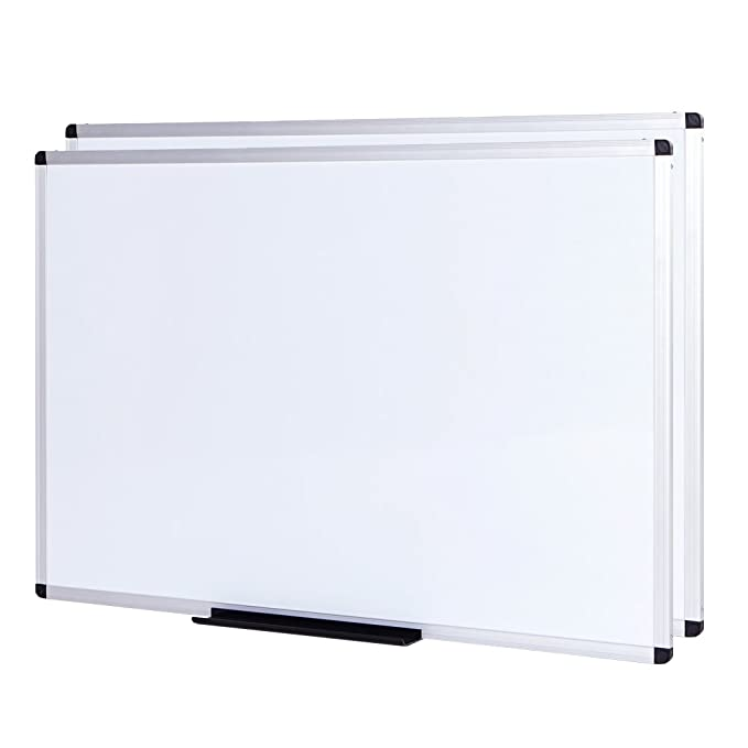 Viz Pro Magnetic Whiteboard/Dry Erase Board, 48 X 36 Inches, Silver Aluminium Frame by Viz Pro