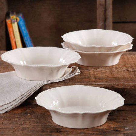 The Pioneer Woman Paige Crackle Glaze 4-Pack Bowl Linen