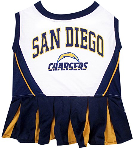 San Diego Chargers NFL Cheerleader Dress For Dogs - Size Medium