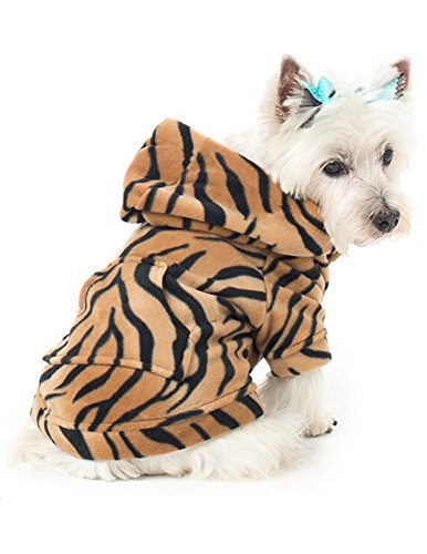 Footed Pajamas Family Matching Tiger Stripes Pet Pajamas Fleece - XXLarge