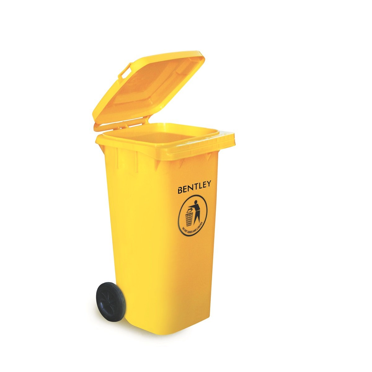 Charles Bentley Outdoor Household Waste Medium Rubbish 120 Litre Wheelie Bin