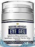 Eye Cream - Dark Circles & Under Eye Bags Treatment - Reduce Puffiness, Wrinkles - Effective Anti-Aging Eye Gel with Hyaluronic Acid, Gotu Kola Extract and Caffeine - Refreshing Serum