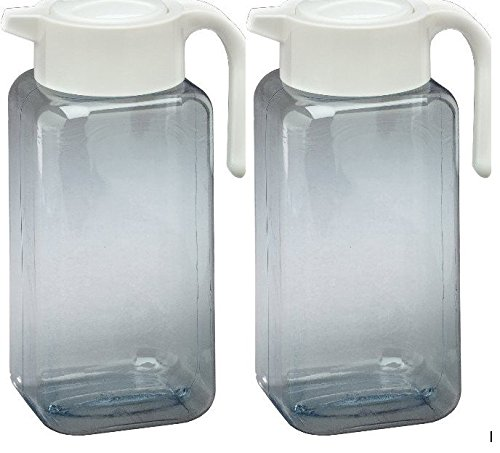 Arrow Plastic Manufacturing Company 00912 1 Gallon Pitcher, Clear - 2 Count