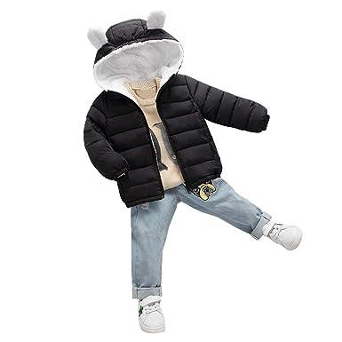 d85e7fd12 Amazon.com  VEKDONE Baby Boys Girls Winter Coats Ear Hoods Light ...