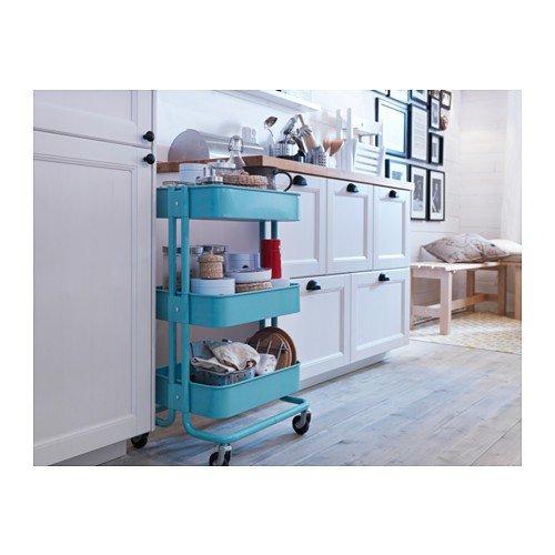 Ikea Ordnungssysteme ikea raskog servierwagen in türkis 35x45x78cm amazon de küche