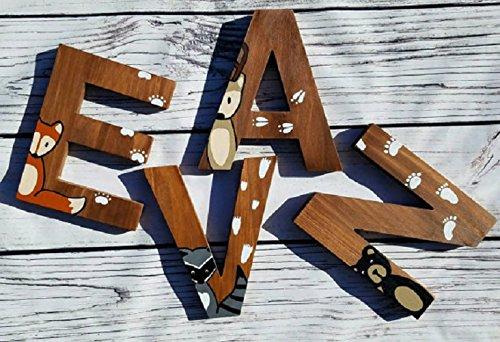 amazon com wooden letters for nursery woodland nursery decor hand