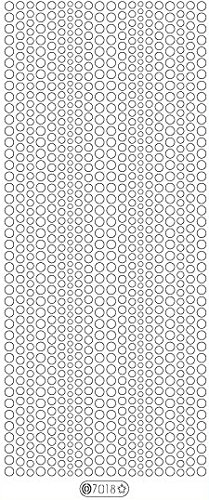 (Elizabeth Craft Designs Glitter Dots Assorti Stickers 4x9 Sheet: Violet)
