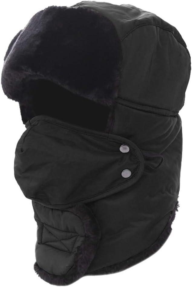HSKB Unisex Winterm/ütze Strickm/ütze Warme Beanie Winter M/ütze und Winddichte Maske mit Fleecefutter Wasserdicht Winddicht f/ür Damen und Herren Schlupfm/ütze Hut Winter Hat