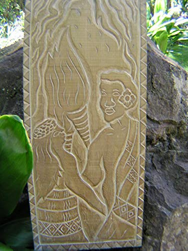 TikiMaster THE KING'S LOVE - KING KAMEHAMEHA - HAND CARVED STORYBOARD by TikiMaster
