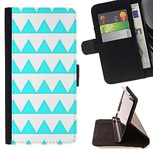 Jordan Colourful Shop - Aquamarine Pattern White Shape For Samsung Galaxy S4 IV I9500 - Leather Case Absorci???¡¯???€????€???????&bdq