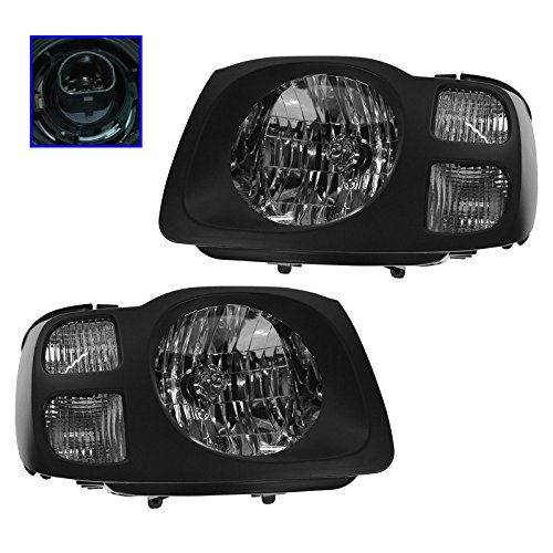 (Headlights Headlamps Left & Right Pair Set For 02-04 Nissan Xterra XE)