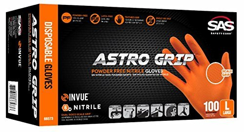 Astro Grip™ Powder-free Nitrile Disposable Glove, Xl, Full Case (10 Boxes of 100) by SAS Safety