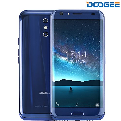 Unlocked Cell Phones, DOOGEE BL5000 Unlocked 4G Smartphones Android 7.0 - 5.5'' FHD Screen - MT6750T - 5050mAh Battery - 4GB RAM + 64GB ROM - Dual 13MP Camera - Unlocked Phones - (Cat Eye Double Wireless Manual)