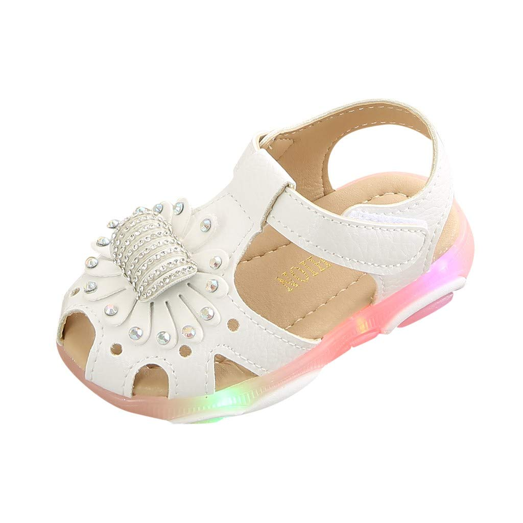 Reasoncool Jungen M/ädchen Sandals Kinder Baby Kristall Blume Led Light Luminous Sport Sandalen Sneaker Schuhe