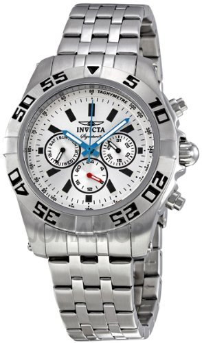 Invicta Signature II Silver Dial Chronograph Stainless Steel Mens Watch 7302 ()