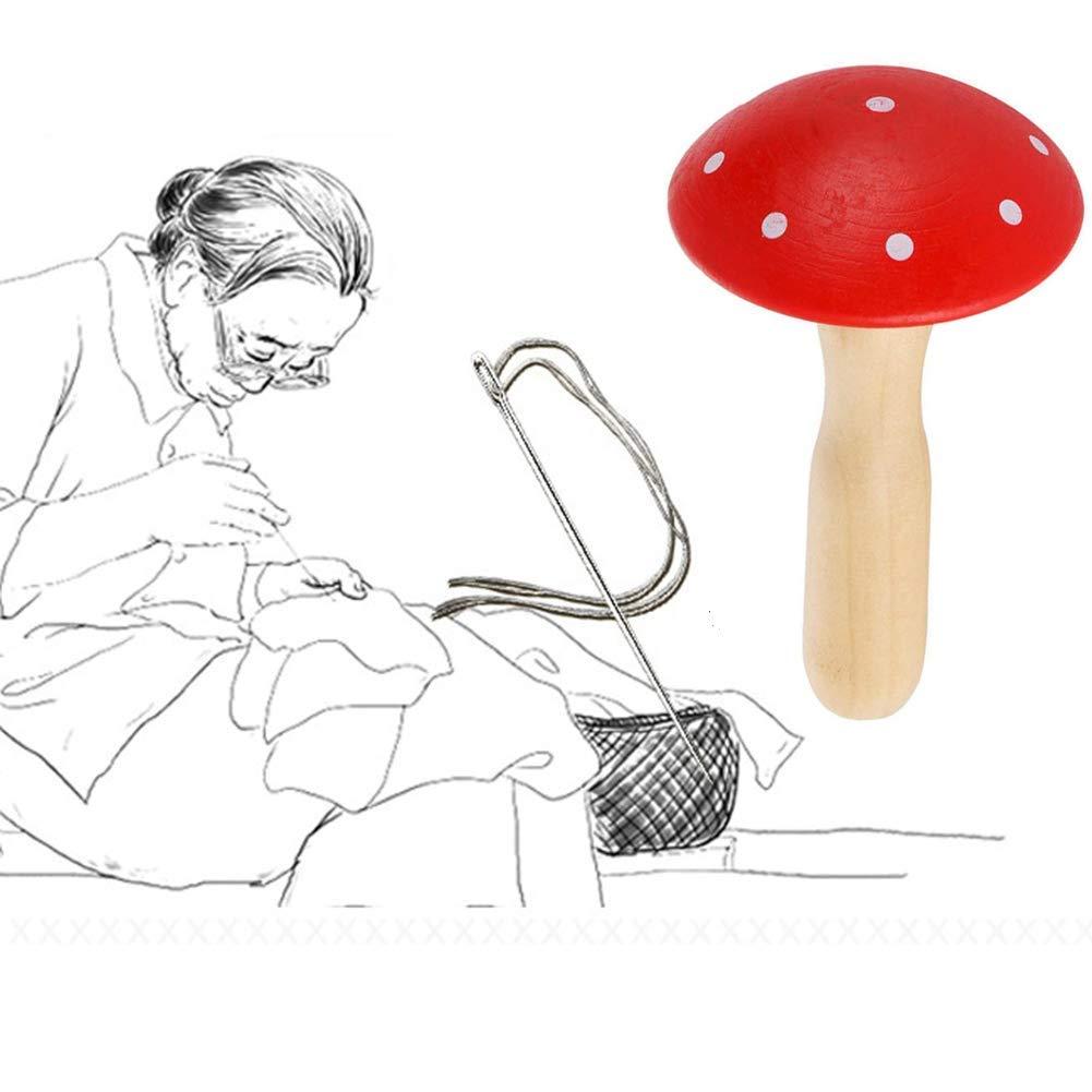 Wooden Darning Supplies Kit for Adults /& Kids DIY Darning Kit 1 Piece Handicraft Class Sewing Bobbin -Darning Socks Home Darner Darning Mushroom Made from Hardwood Travel