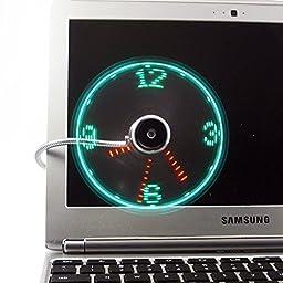 Generic USB LED Clock Fan