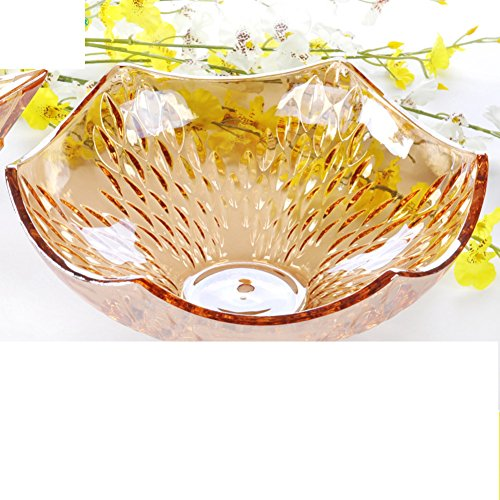 glass fruit bowl fruit bowl/Continental living room ideas dried fruits for household use/ modern candy dish-E