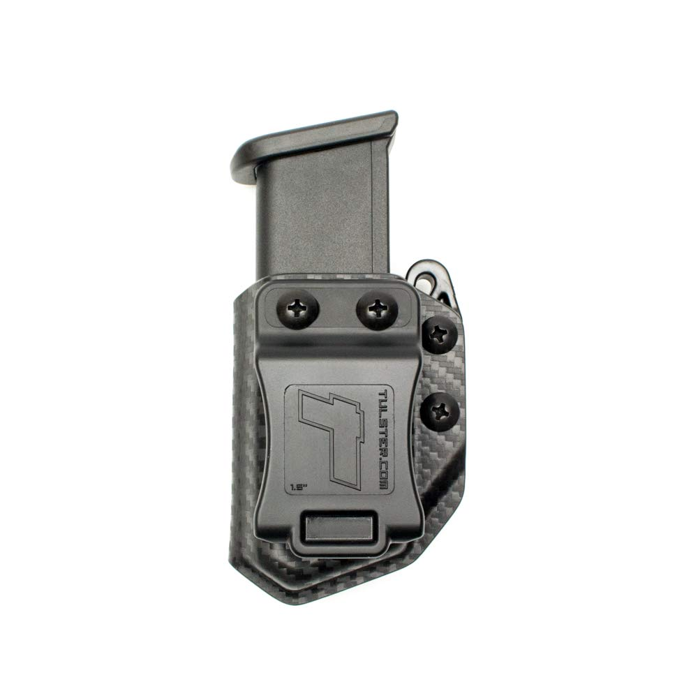 Tulster Universal 9mm/.40 Double Stack Mag Carrier Echo Carrier IWB/OWB (Black Carbon Fiber) by Tulster