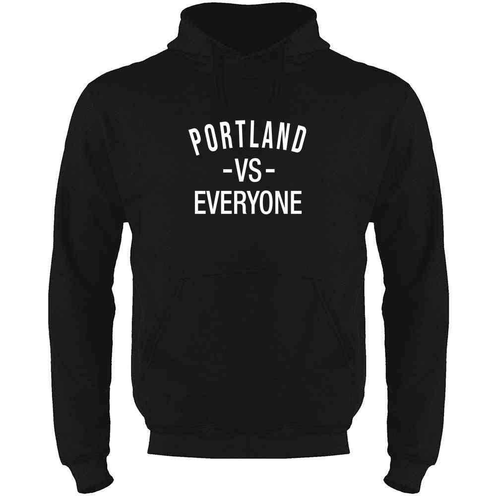 Portland vs Everyone Sports Fan Mens Fleece Hoodie Sweatshirt