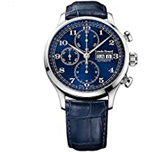 Louis Erard Men's 1931 42.5mm Blue Leather Band Steel Case Automatic Analog Watch 78225AA25.BDC37