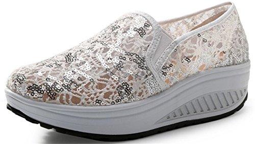 Scarpe Da Donna Per Adulti Maglia Da Passeggio Scarpe Da Ginnastica Moda Sneakers Bianche