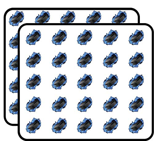 (Hockey Puck Sticker for Scrapbooking, Calendars, Arts, Kids DIY Crafts, Album, Bullet Journals 50 Pack)