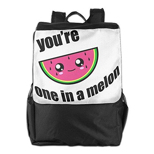 Eshanqu You're One In A Melon School Travel Laptop Shoulders Backpack Bag
