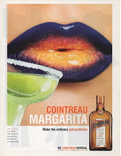 Magazine Print Ad: 2006 Cointreau Margarita Lime Recipe, Lips,