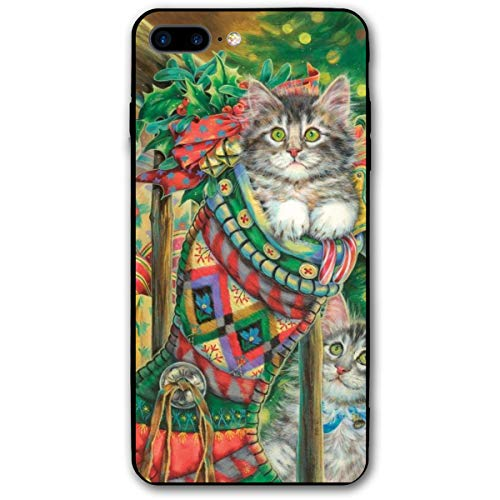 Christmas Stocking Kitten iPhone 7 8 Plus 7plus 8plus Phone Case Cover Theme Decorative Mobile Accessories Ultra Thin Lightweight Shell Pattern Printed Ornament Decorations