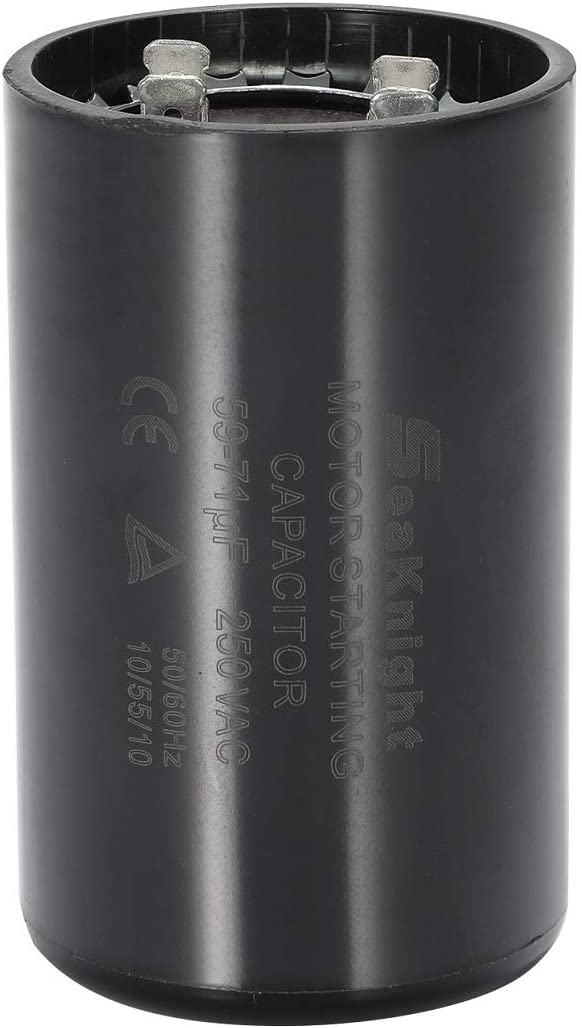 BlueCatELE 59-71 MFD (uF) Motor Start Capacitor Compatible for Franklin Control Box 2801054915, CRC 2824075015 1/2 and 3/4 HP Well Pump and Others